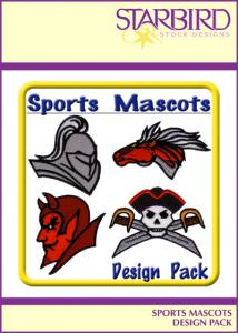 Starbird Embroidery Designs Sports Mascots Design Pack