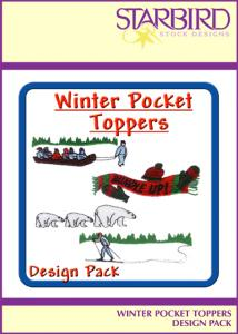Starbird Embroidery Designs Winter Pocket Toppers Design Pack