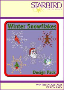 Starbird Embroidery Designs Winter Snowflakes Design Pack