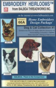 Balboa Threadworks 66A Dog & Cat Collection #1 Embroidery Disks