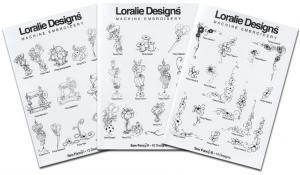 Loralie Embroidery Designs Sew Fancy I, II & III Multi-Formatted CD's (3 Volume Set) - 37 Designs