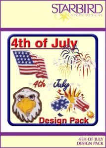 Starbird Embroidery Designs 4th of July Design Pack