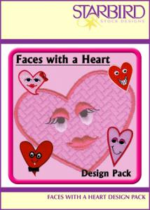 Starbird Embroidery Designs Faces with a Heart Design Pack