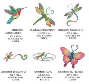 Great Notions 1569 Wing Rainbow Embroidery Designs Multi-Formatted CD