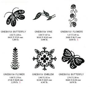 Great Notions 1570 Black and White Fashion Embroidery Designs Multi-Formatted CD