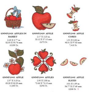 Great Notions 1571 Apples IIEmbroidery Designs Multi-Formatted CD