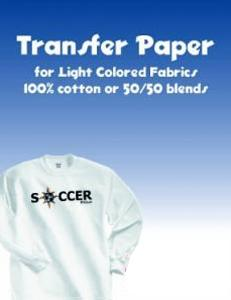 """Printables 2635 Heat Transfer Paper, 100 Sheets 8.5X11"""" Print Color Images with Inkjet Printers on Lighter Colored Fabrics using Dry Heat Press"""