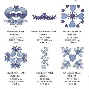 Great Notions 1582 True Blue Embroidery Designs Multi-Formatted CD