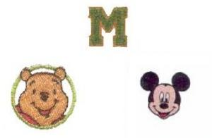 Brother TA3001 Chenille Alphabet +TA3002 Winnie the Pooh +TA3003 Mickey Mouse
