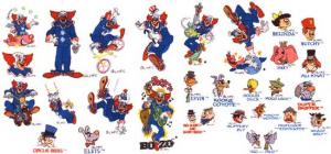 Husqvarna Viking Bozo The Clown and Friends Embroidery Card for #1 Plus