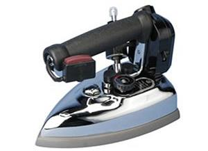 14314: Ace Hi ES85A Silver Star Gravity Feed Steam Iron, Hot Iron Rest, Resin