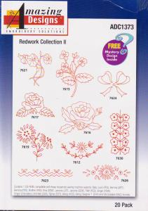 Amazing Designs ADC1373 Redwork Collection II Multi-Formatted CD