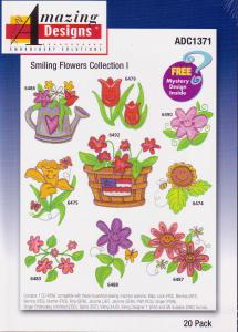 Amazing Designs ADC1371 Smiling Flowers Embroidery Collection I CD