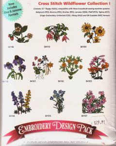 Amazing Designs AD2039 Cross Stitch Wildflower Collection I Multi-Formatted Cd