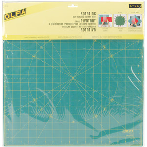 """14573: Olfa RM-17S Spinning Rotary Rotating Cutting Mat 17x17"""" Inches Square"""