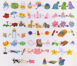 Dakota Collectibles 970218 Toddler Trios Multi-Formatted CD Embroidery Machine Designs
