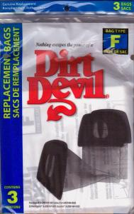 Dirt Devil, Type F, Vacuum Cleaner, Dust Bags, 3 Pack, for M & MO