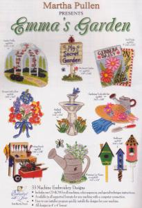 15080: Martha Pullen Emma's Garden Embroidery Designs Multi-Formatted CD