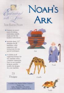 Martha Pullens Noah's Ark Embroidery Designs Multi-Formatted CD