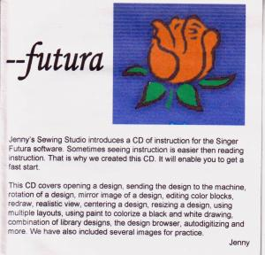 Jennys Sewing Studio Futura Software Lessons, Singer XL400