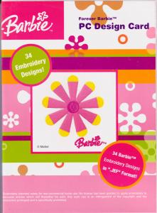 Janome Forever Barbie PC Design Card for Janome Embroidery Machines in .JEF Format Only, Non Convertable to Other Formats