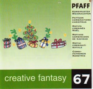 Pfaff No. 67 Pattern Combinations Christmas Embroidery Card