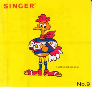 Singer No. 9 Zoo League Soccer Designs Embroidery Card for XL100, XL150 & XL1000 Embroidery Machines