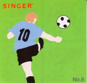 Singer 386051 No. 8 Sports 18 Designs Embroidery Card, Quantum XL100 XL150 XL1000