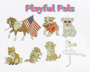 OESD 864 Playful Pets Large Embroidery Designs Multi-Formatted CD
