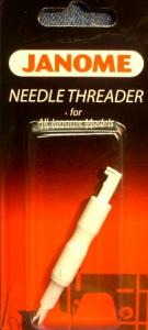 Janome 49- Push In Needle Threader 200347008 Push Button Type for All Sewing Machines & Sergers, Home or Industrial, Originally from Elna Switzerland