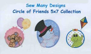 Sew Many Designs Circle Of Friends Applique Collection Multi-Formatted CD