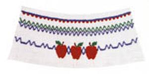 Ellen McCarn EM164 Apple-Jack Smocking Plate in Colors