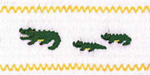 Ellen McCarn Gators Smocking Plate