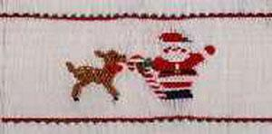Ellen McCarn Lickity Christmas Smocking Plate