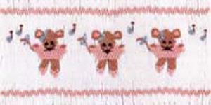Ellen McCarn Merry Mouse Ballet Smocking Plate