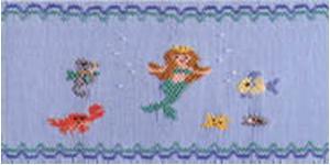 Ellen McCarn Neptune's Family Pearl Pkg Smocking Plate