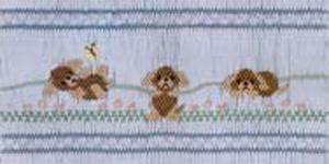 Ellen McCarn  Playful Puppies Smocking Plate