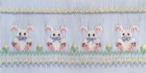 Ellen McCarn EM116 Precious Bunnies Smocking Plate Sewing Pattern