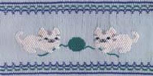 Ellen McCarn EM115 Purr-fect Playmates Cats Smocking Plate