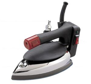 Hi Steam EFE 55W Pro Gravity Feed Steam Iron 5Lbs, Hot Iron Rest, Demineralizer, 3 Prong Safety Plug End on Power Cord