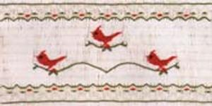 Ellen McCarn EM155 Redbirds Designs Smocking Plate Sewing Pattern