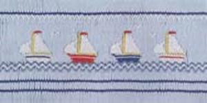 15745: Ellen McCarn EM038 Regatta Smocking Plate Sewing Pattern