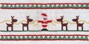 Ellen McCarn Santa & Reindeer Smocking Plate