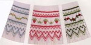 Ellen McCarn Strawberries & Flowers Smocking Plate