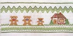 Ellen McCarn EM149 The Three Bears Smocking Plate