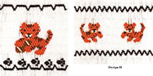 15776: Ellen McCarn EM209 Tiger Cubs Smocking Plate Pattern