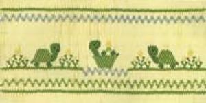 Ellen McCarn Tory's Turtles Smocking Plate