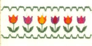 Ellen McCarn  Tulip Garden  Smocking Plate