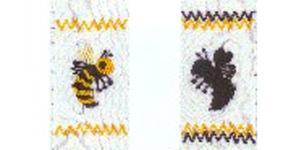 Ellen McCarn Yellow Jacket & Hornet Smocking Plate