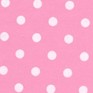 Fabric Finders 15 Yd Bolt 9.34 A Yd  #466 Pink & White Dots 100% Pima Cotton Fabric